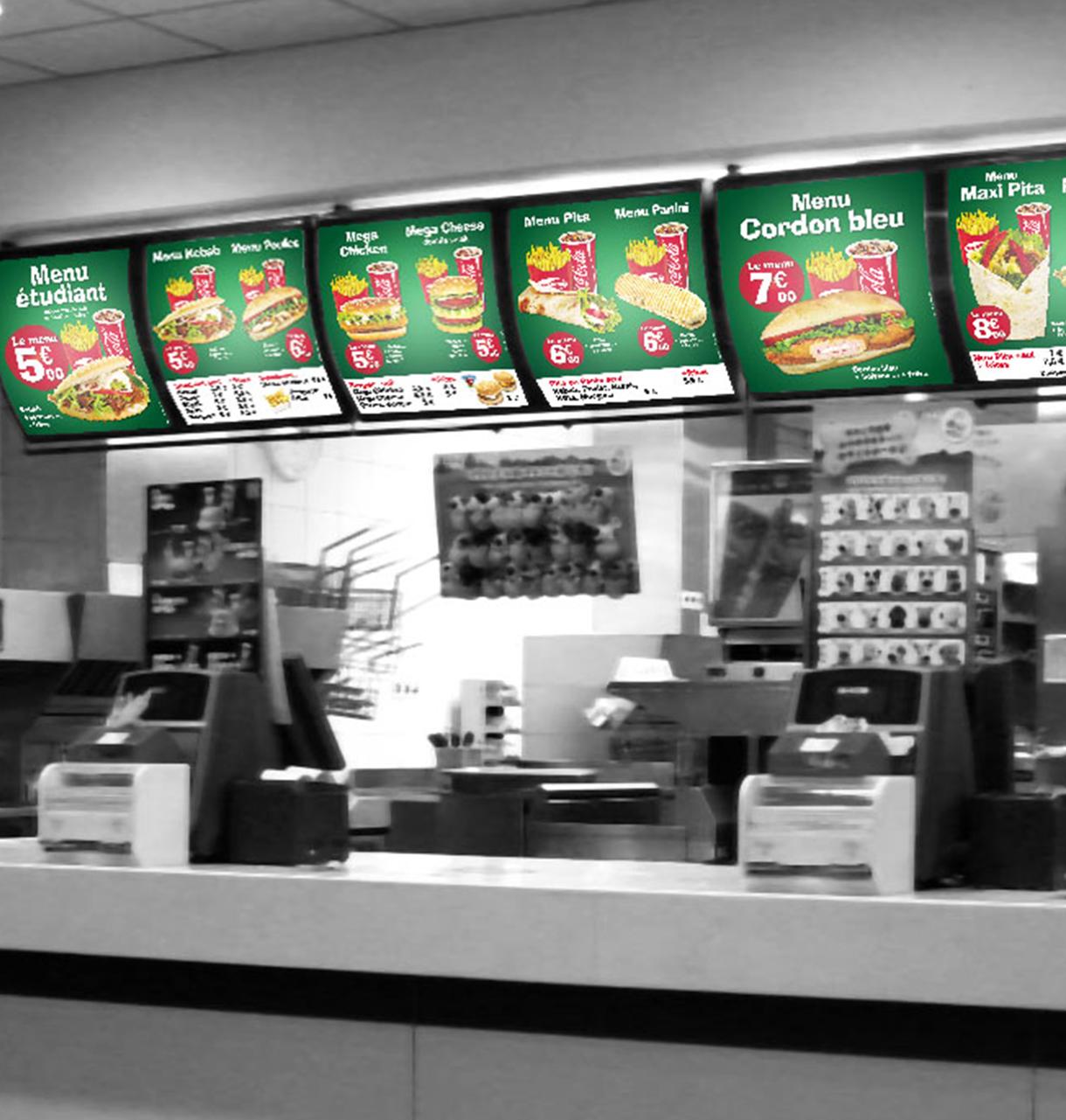 Panneau Backlight Creation Enseigne Pour Restaurant Fast Food