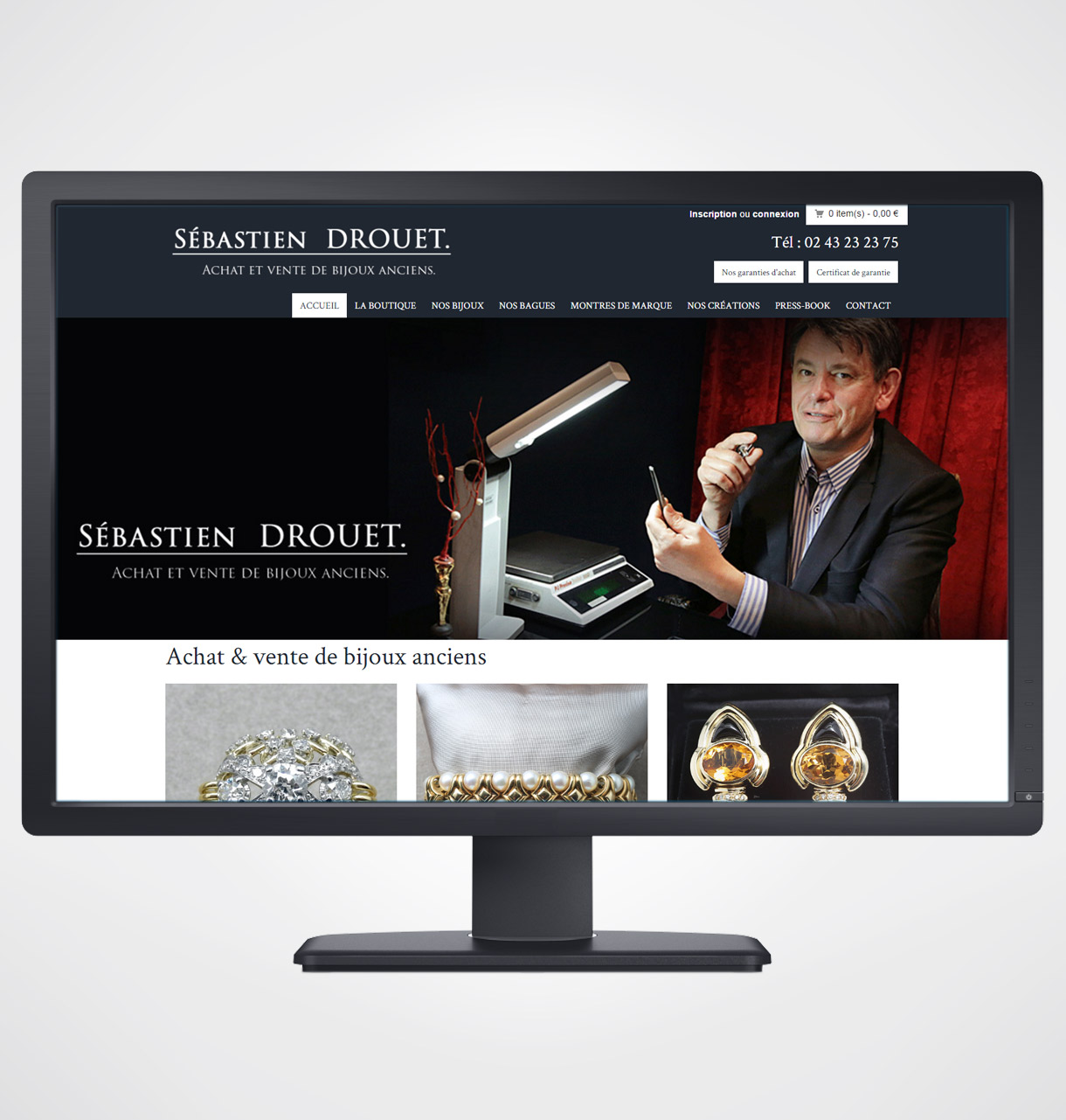 cr ation site internet bijouterie s bastien drouet le mans. Black Bedroom Furniture Sets. Home Design Ideas
