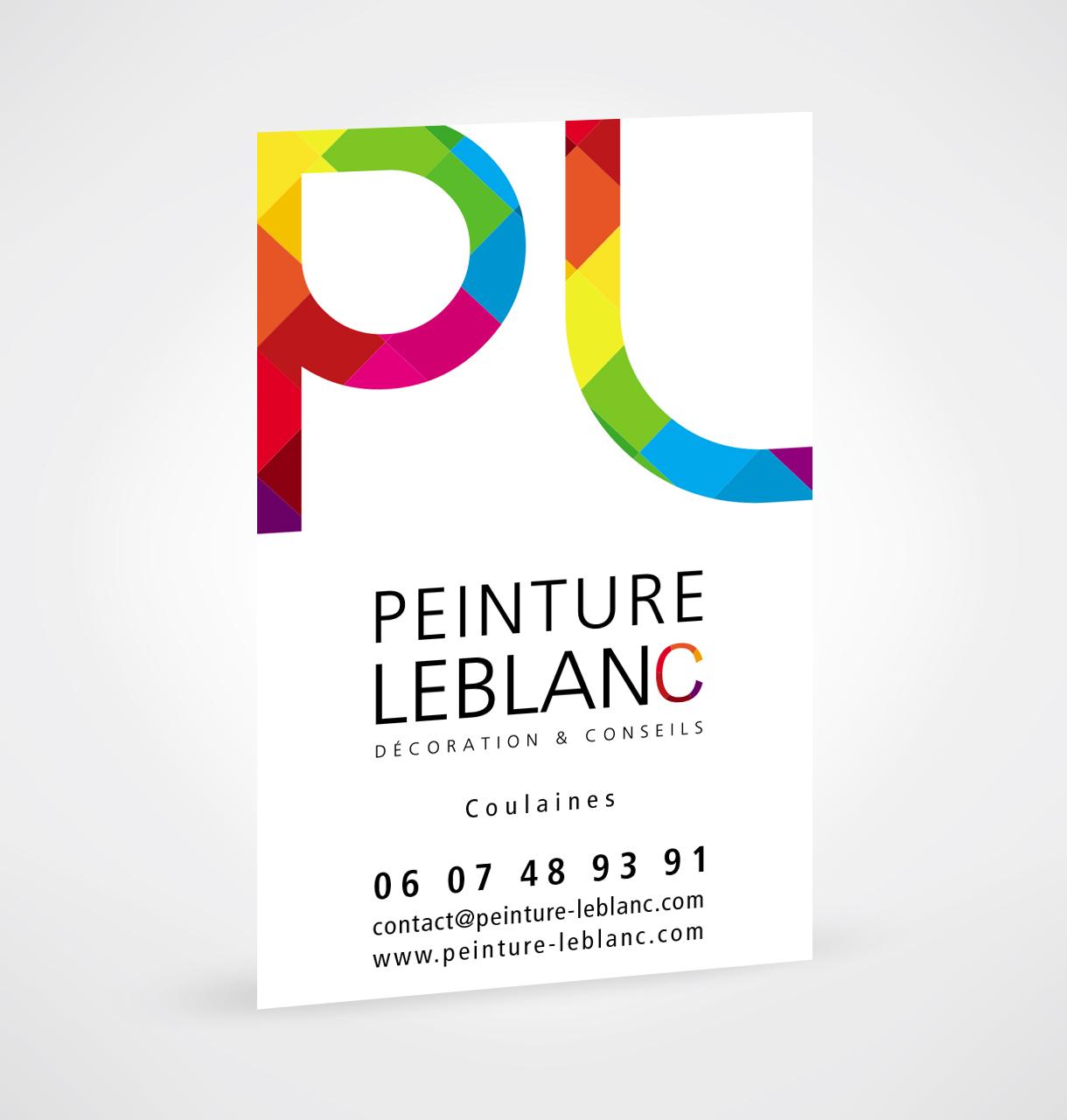 Creation Dune Carte De Visite Pour Peinture Leblanc