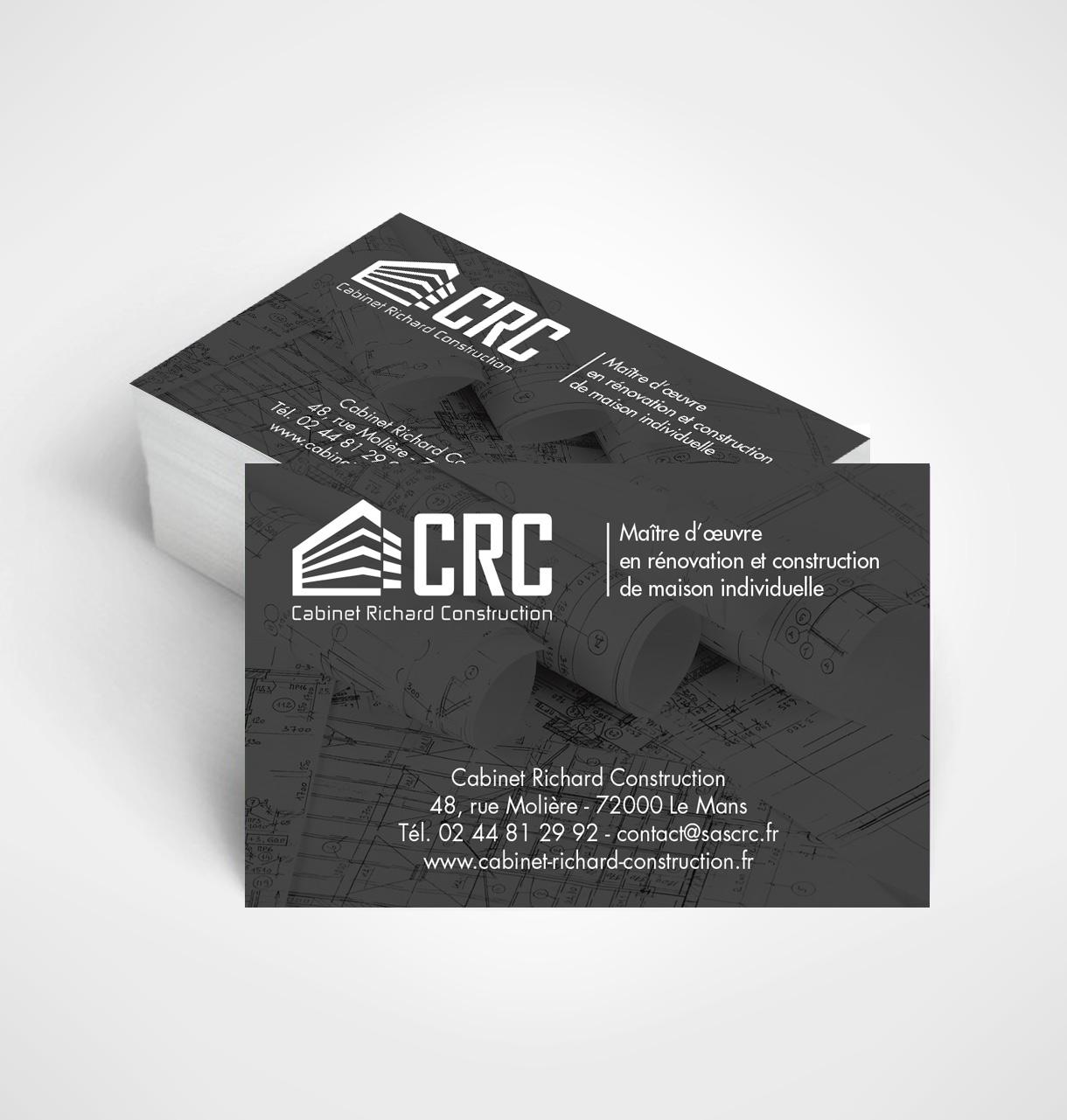 Cr ation carte de visite cabinet richard construction for Carte visite construction