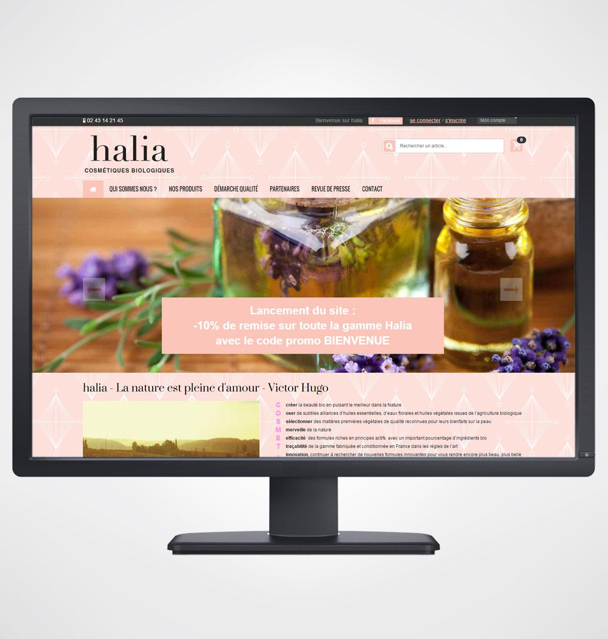 cr ation site internet pour vente en ligne de cosm tiques bio. Black Bedroom Furniture Sets. Home Design Ideas