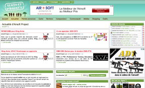 Création site internet Airsoft Project