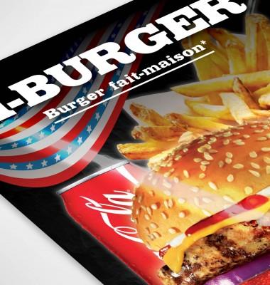 cr ation flyer fast food kebab hamburger sur le mans sarthe. Black Bedroom Furniture Sets. Home Design Ideas